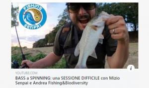 Canne da pesca a spinning fishing Senpai scappotta col bass